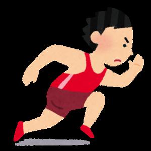 短距離走を走る人