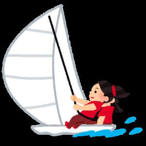 ヨット競技をする人